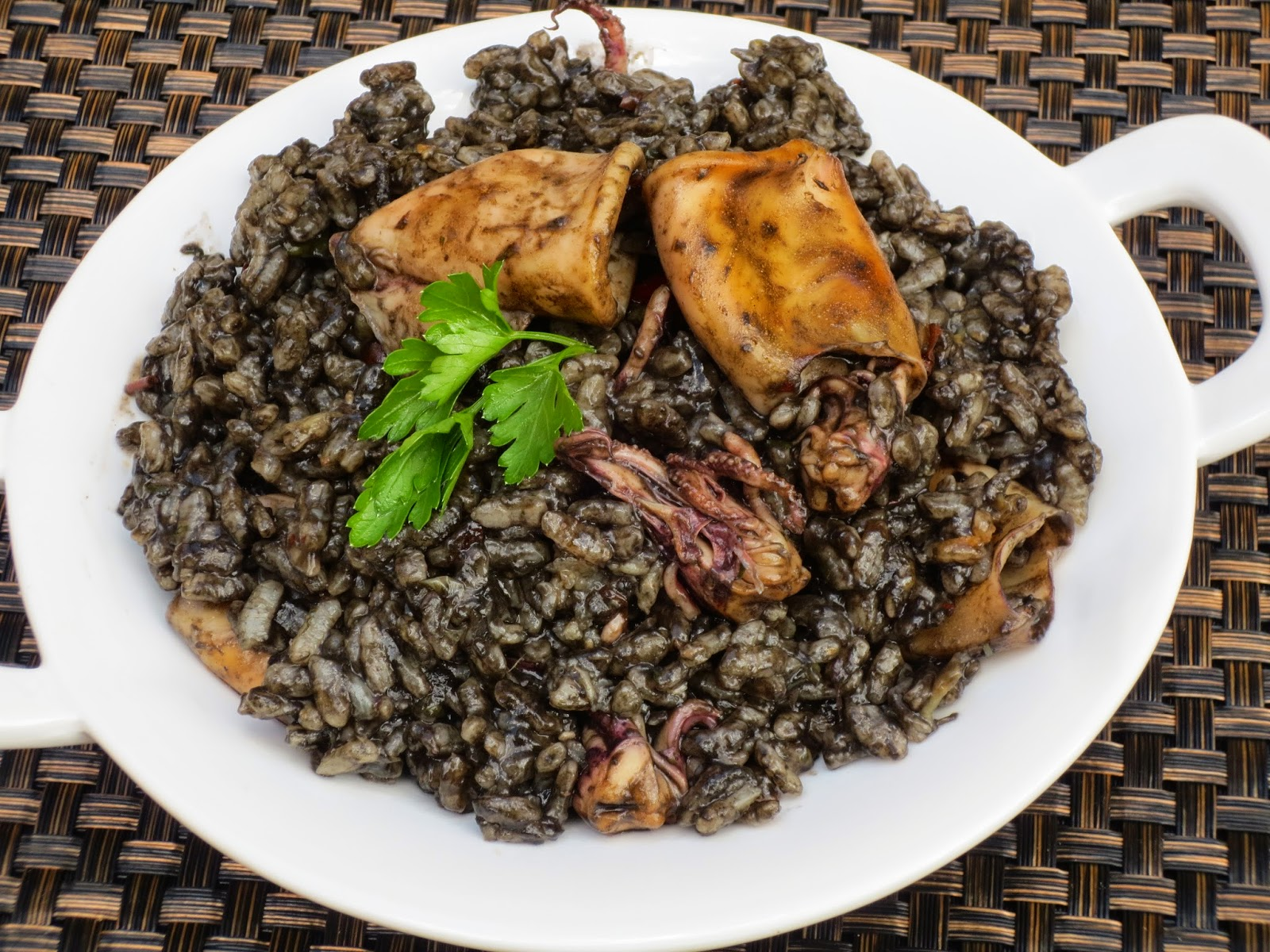 Arroz negro con chipirones Thermomix