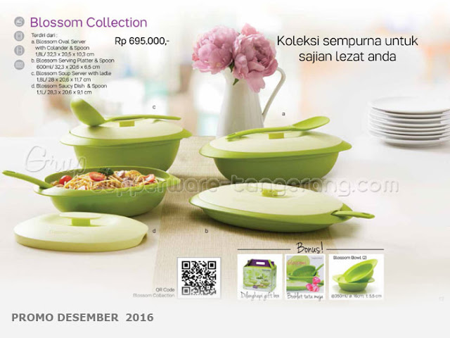 Blossom Collection Promo Tupperware Desember 2016