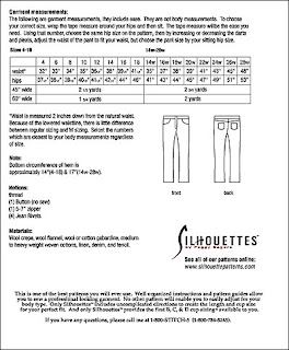 Creates Sew Slow: Silhouette Patterns #3300 Lana's Jeans