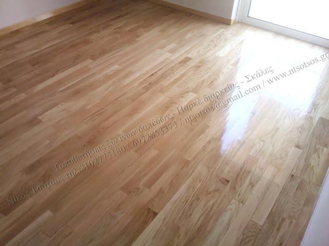 Συντήρηση ξύλινου δρύινου πατώματος