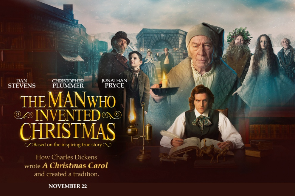 The Man Who Invented Christmas Poster.The Man Who Invented Christmas Movie Review Trailer Poster