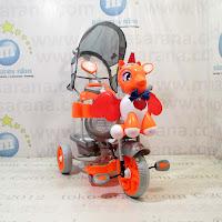Sepeda Roda Tiga Family F845GT Unicorn Suspensi Musik Dobel Bintang Ban Jumbo