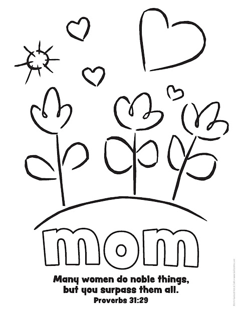 Share Some Lovely Bond By Painting Some Beautiful Colors On These Mothers  Day Coloring Pages Proverbs Mothers Day Verse