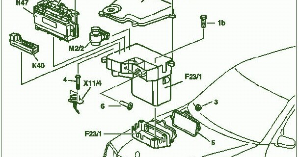 Fuse Box Diagram Mercedes Benz CLK 320 2001 ~ Mercedes Fuse Box Diagram