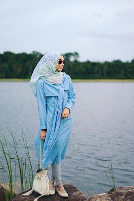 Foto Cewek Model  hijab tahun 70 an celana jenas
