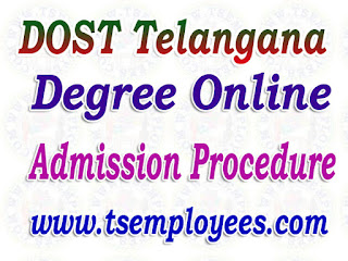 Dost Telangana Degree Online Admission Procedure dost.cgg.gov.in