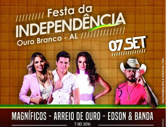Prefeitura de Ouro Branco divulga programação da festa da independência