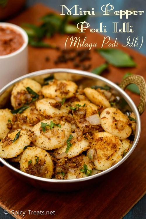 Mini Pepper Podi Idli | Pepper Podi Idli Recipe | Milagu Podi Idli Recipe