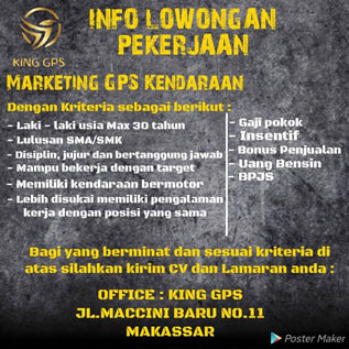 Lowongan Kerja di King GPS Makassar