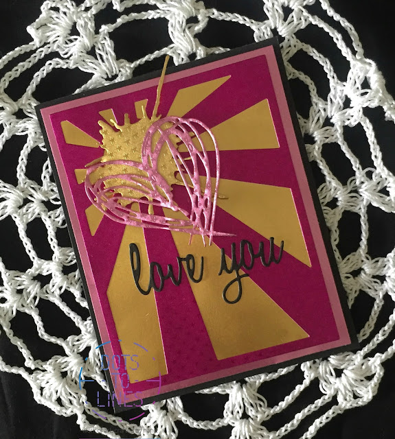 Valentine Card using Rinea Foiled Paper