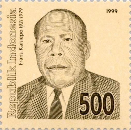 Gambar Frans Kaisiepo pada Perangko 1999