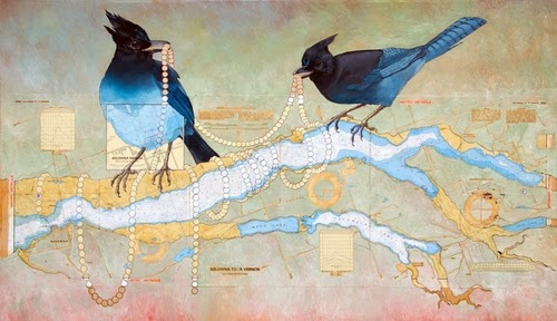 15-The-Pearls-Artist-Paul-Morstad-Cartographic-Maps-Vancouver-Canada-Collage-Water-Colour-Gouache-Oil-Paints-www-designstack-co