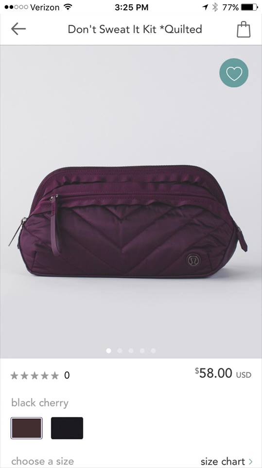 lululemon quilted don't-sweat-it-kit