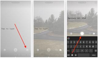 Cara Menggunakan Mode Type untuk Teks Hanya Teks Berwarna di Instagram Story