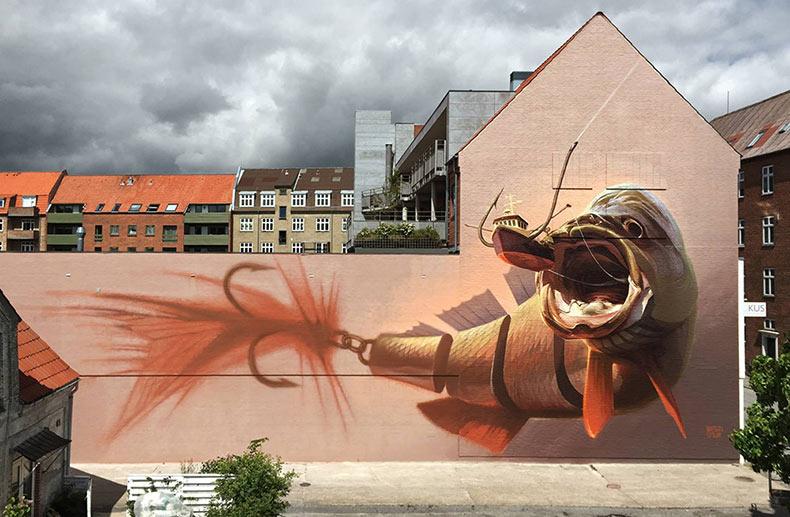Lúdicos murales por el arstista suizo Wes21