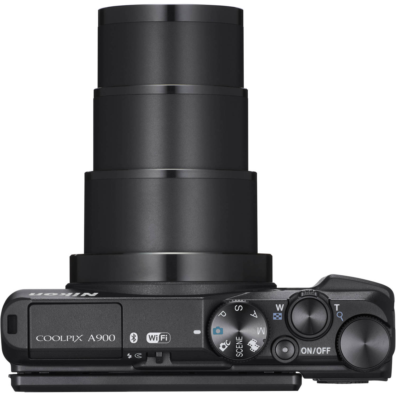Nikon Coolpix A900, вид сверху