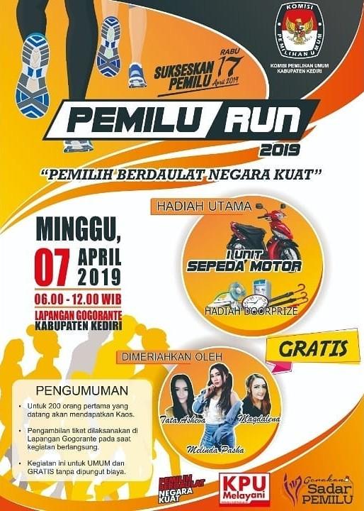 Pemilu Run - Kab. Kediri • 2019