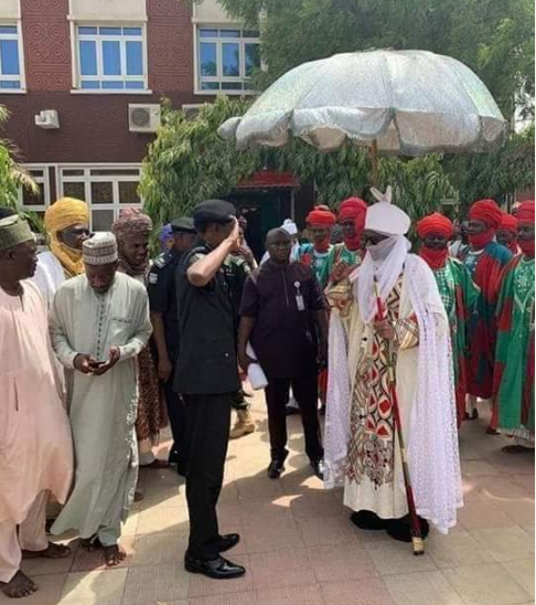 Emir Sanusi Meets Honest Nigerian Police Commissioner Who Stopped Rigging In Kano