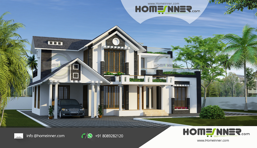 Luxury 4 bedroom Modern Kerala Home Design in 3070 sqft