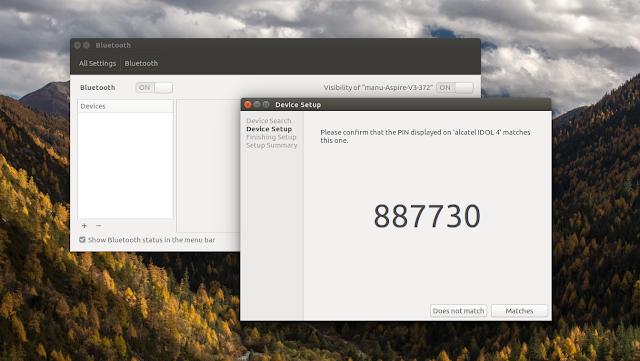 android to ubuntu via bluetooth wifi