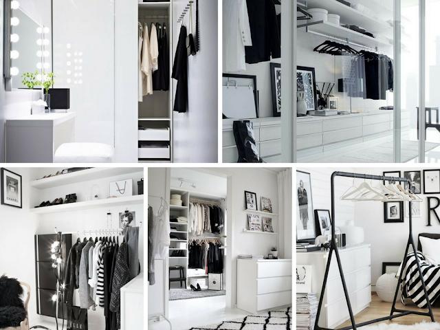 Decoração Black and White - Closet