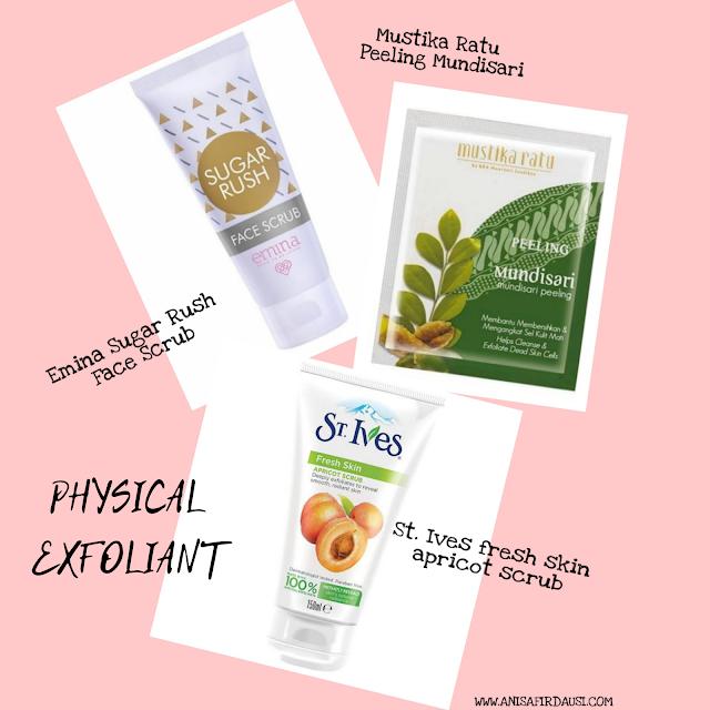 produk-produk physical exfoliator anisa firdausi