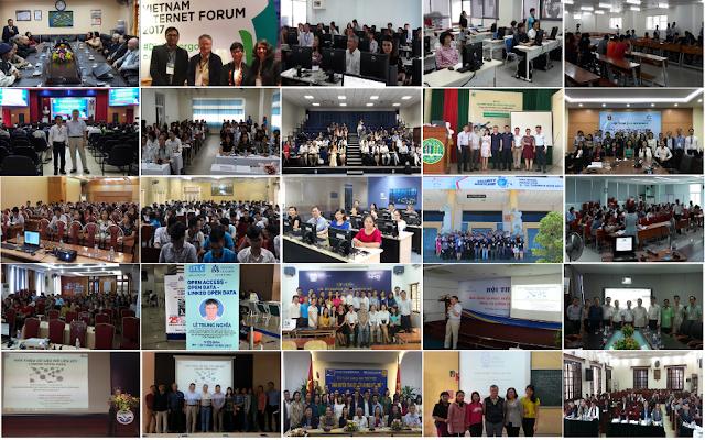 Tổng kết các bài trình bày tại hội nghị, hội thảo hết năm 2017