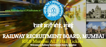RRB Mumbai ALP Hall Tickets 2016-2017