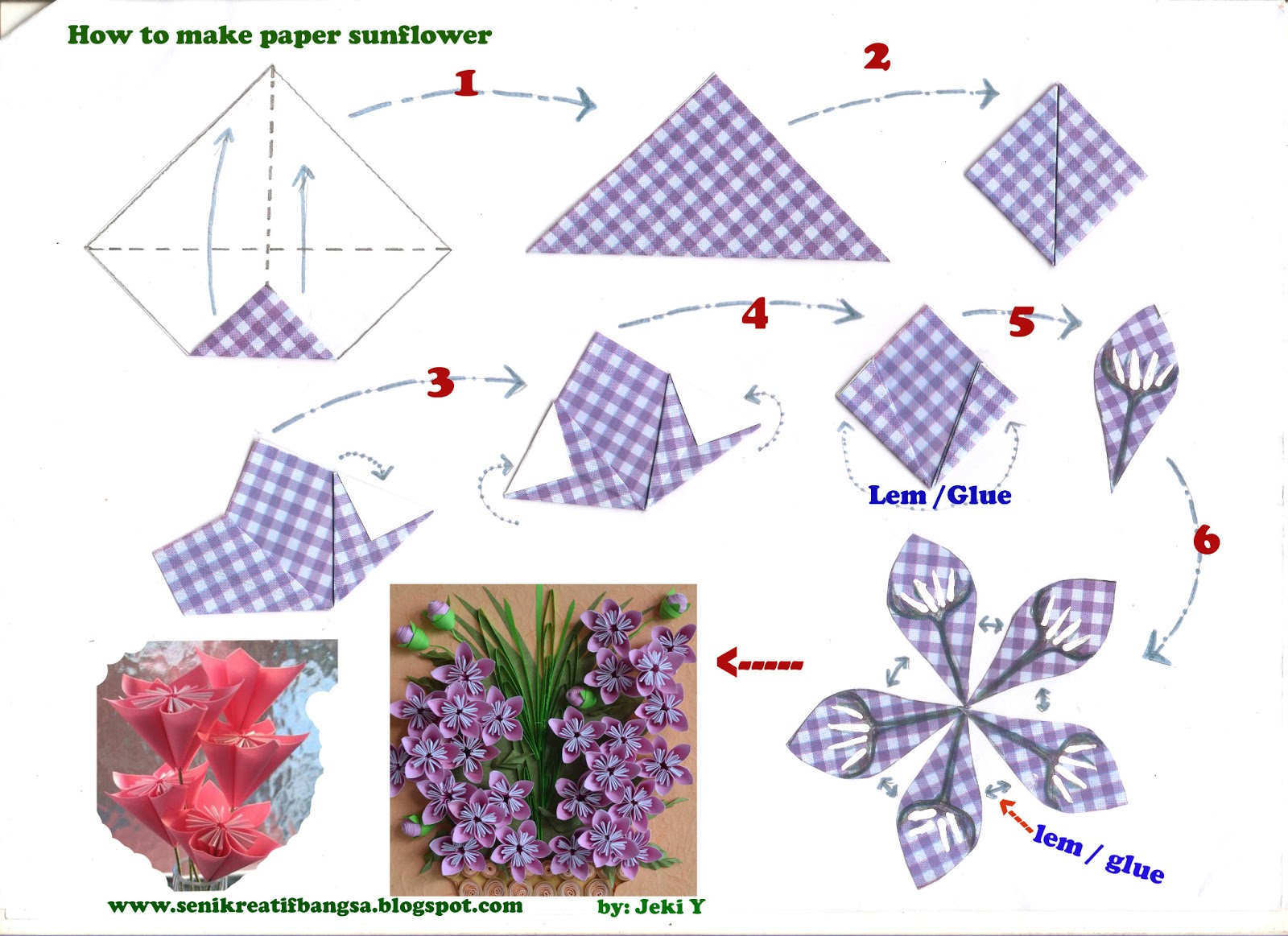 Creative Art / Seni Kreatif: How to.../CARA Origami / DIAGRAM - photo#10