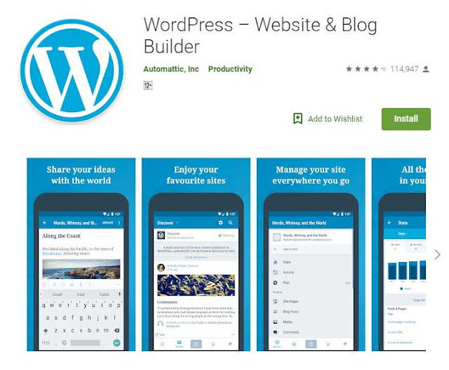 Best Android Apps For Bloggers - Wordpress App
