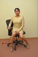 Actress Pooja Roshan Stills in Golden Short Dress at Box Movie Audio Launch  0030.JPG