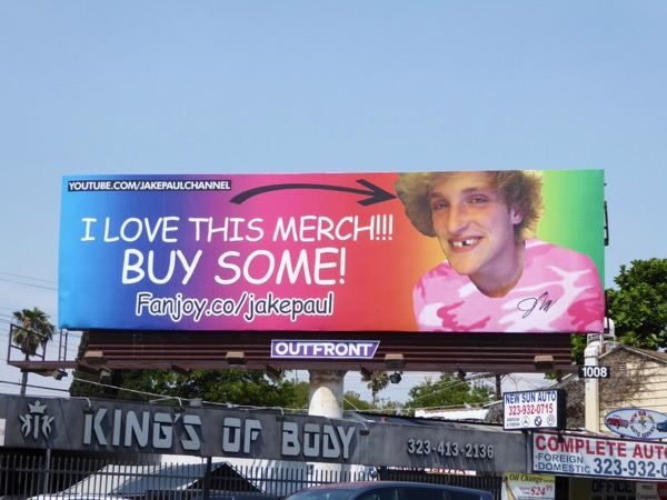 Fanjoy Jake Paul merch billboard