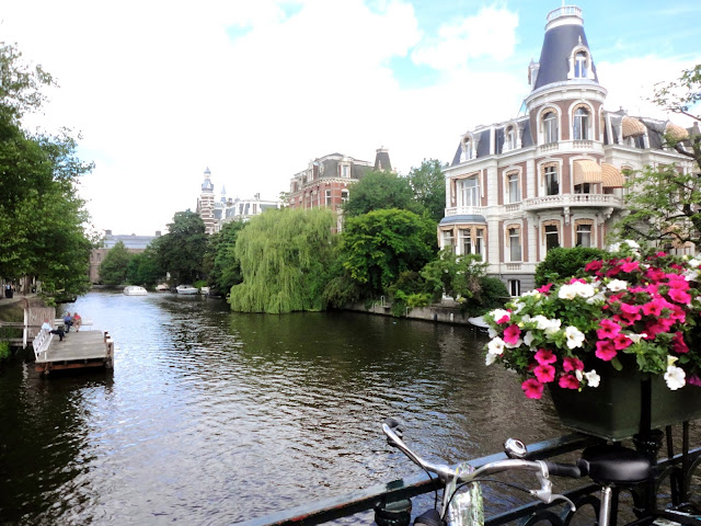 Canal view from a bridge in Amsterdam | Netherlands, Europe