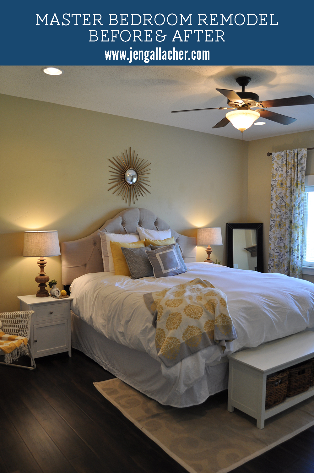 Jen Gallacher Master Bedroom Remodel Before And After