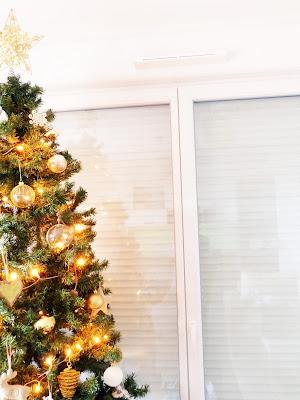 Sapin de Noël Jardiland décoration de Noël dorée doré Botanic Village de Noël