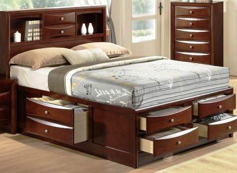01 Tempat tidur dengan tambahan penyimpanan