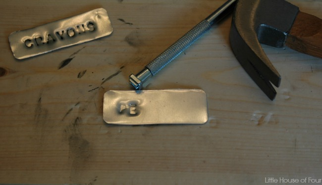Stamp tags with a metal stamping kit