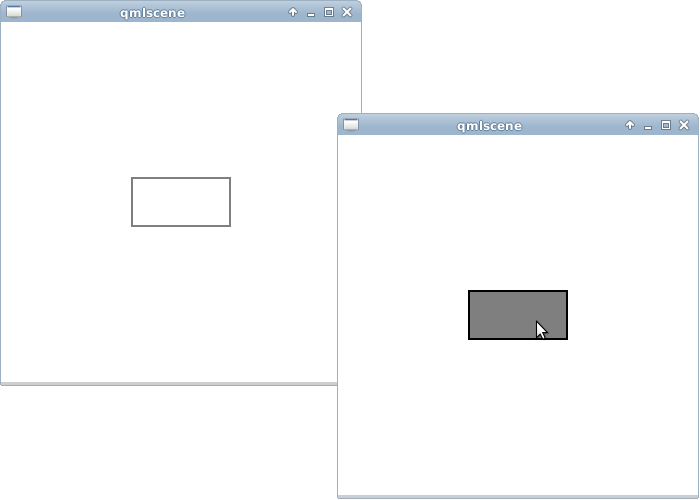 Qteveloper: qml example: simple button