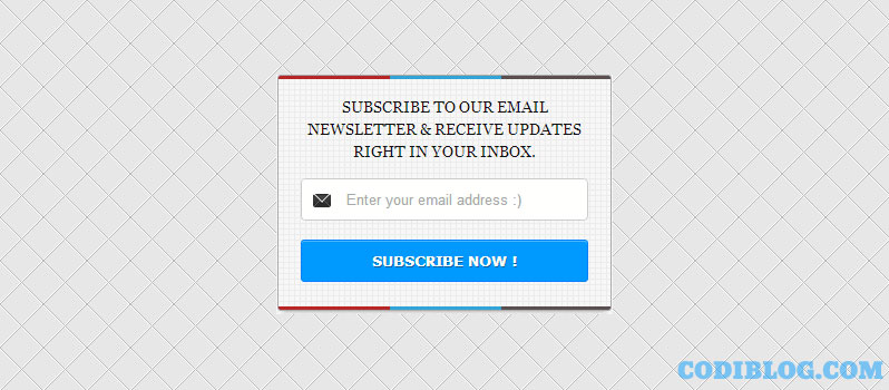 Blogger Newsletter Email Subscribe Widget