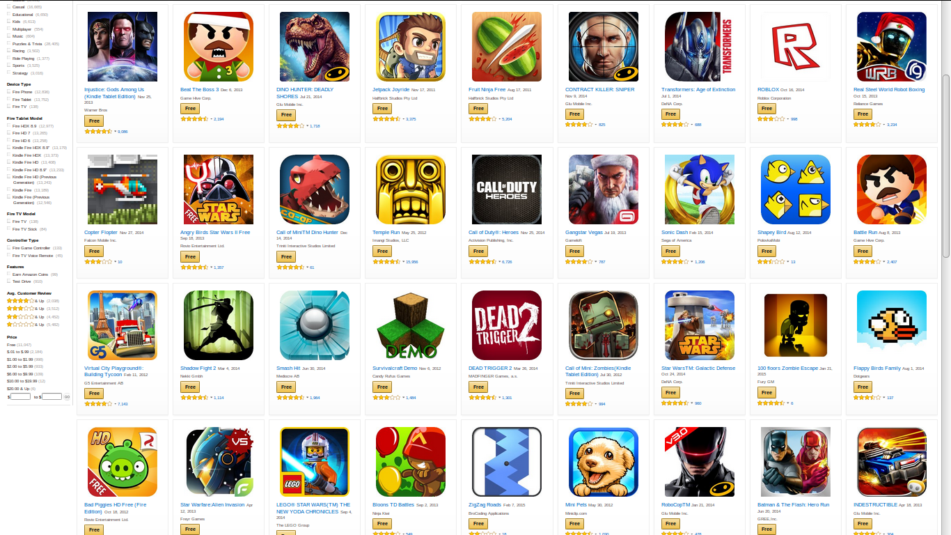 Download 145 Free Android Apps From Amazon App Store Free
