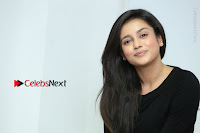 Telugu Actress Mishti Chakraborty Latest Pos in Black Top at Smile Pictures Production No 1 Movie Opening  0142.JPG