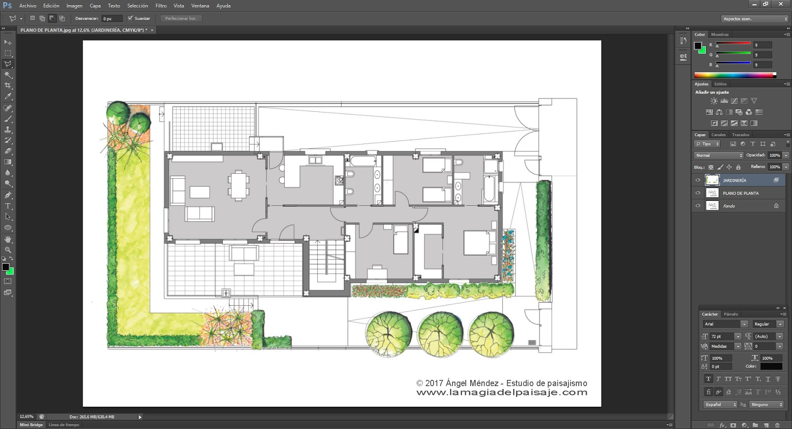 TUTORIAL: Veamos cómo se hizo este plano de jardinería PASO a PASO