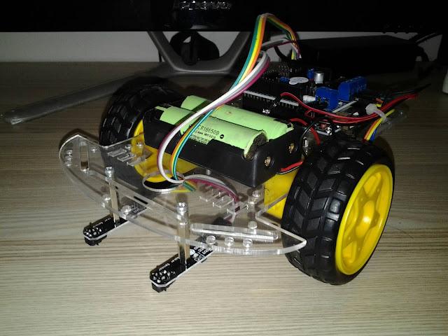 โปรเจค หุ่นยนต์เดินตามเส้น 2 เซ็นเซอร์ Arduino + L298P