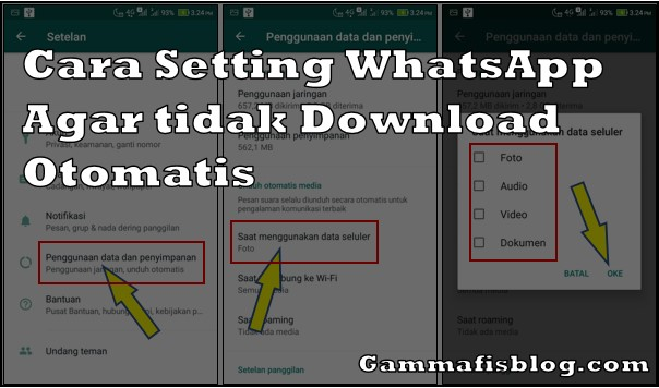 Cara Setting WhatsApp Agar tidak Download File Otomatis