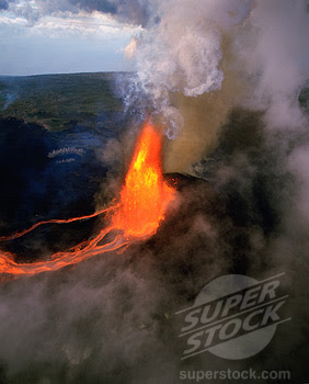 The Kilauea and the Hawaii volcanoes United States of