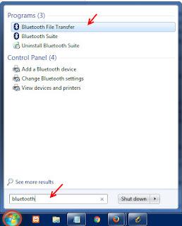 Menggunakan bluetooth untuk memindahkan file/data dari komputer ke hp atau sebaliknya