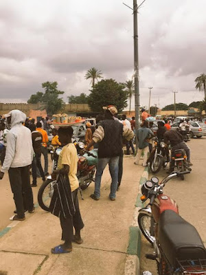 Okada riders in Bauchi protest against the introduction of ID cards by their union (photos)