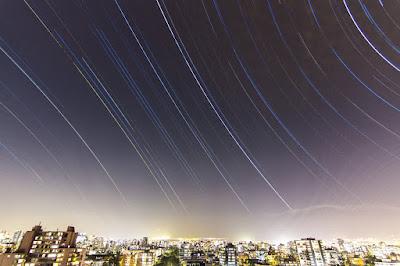 Startrails Santiago de Chile Hemisferio Sur