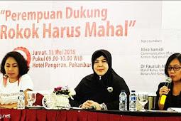 Perempuan Dukung Rokok Harus Mahal ! Setuju ! Kami Dukung 100 % Untuk Indonesia