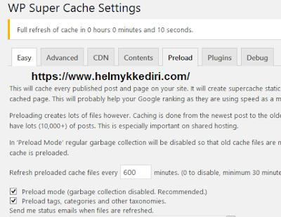 Cara menggunakan WP super cache